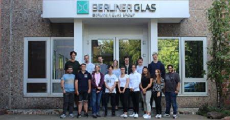 Berliner Glas welcomes new apprentices. Courtesy of Berliner Glas.