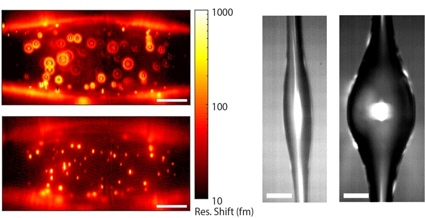 Microresonator Measures and Images Nanoparticles with High Degree of Sensitivity