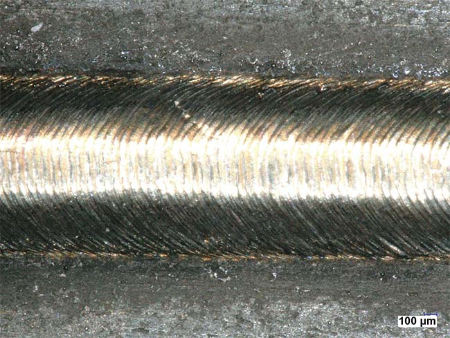 Figure 4. Welding with pulse modulation provides a flawless, uniform weld seam. Courtesy of Sigma Laser GmbH.