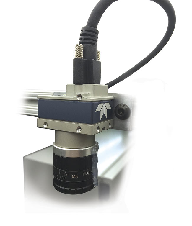 One of two cameras used for mobile inspection of vehicle suspension assemblies, enabling automation of a previously manual task. Courtesy of Teledyne DALSA.