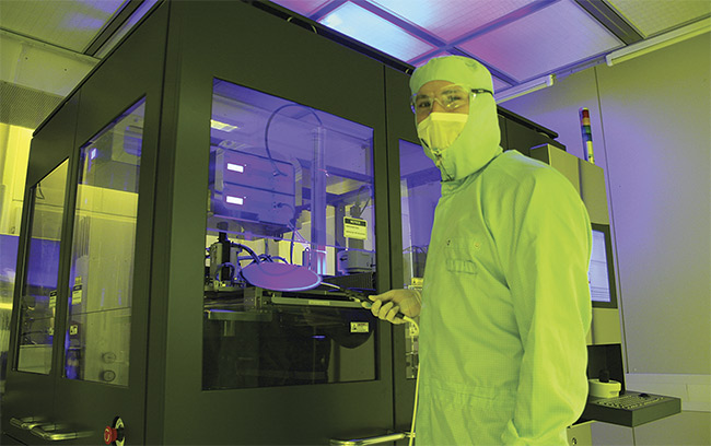Figure 4. The NILPhotonics Competence Center is an open-access innovation incubator for nanoimprint lithography, providing S&R mastering services for wafer-level optics. Courtesy of EV Group.