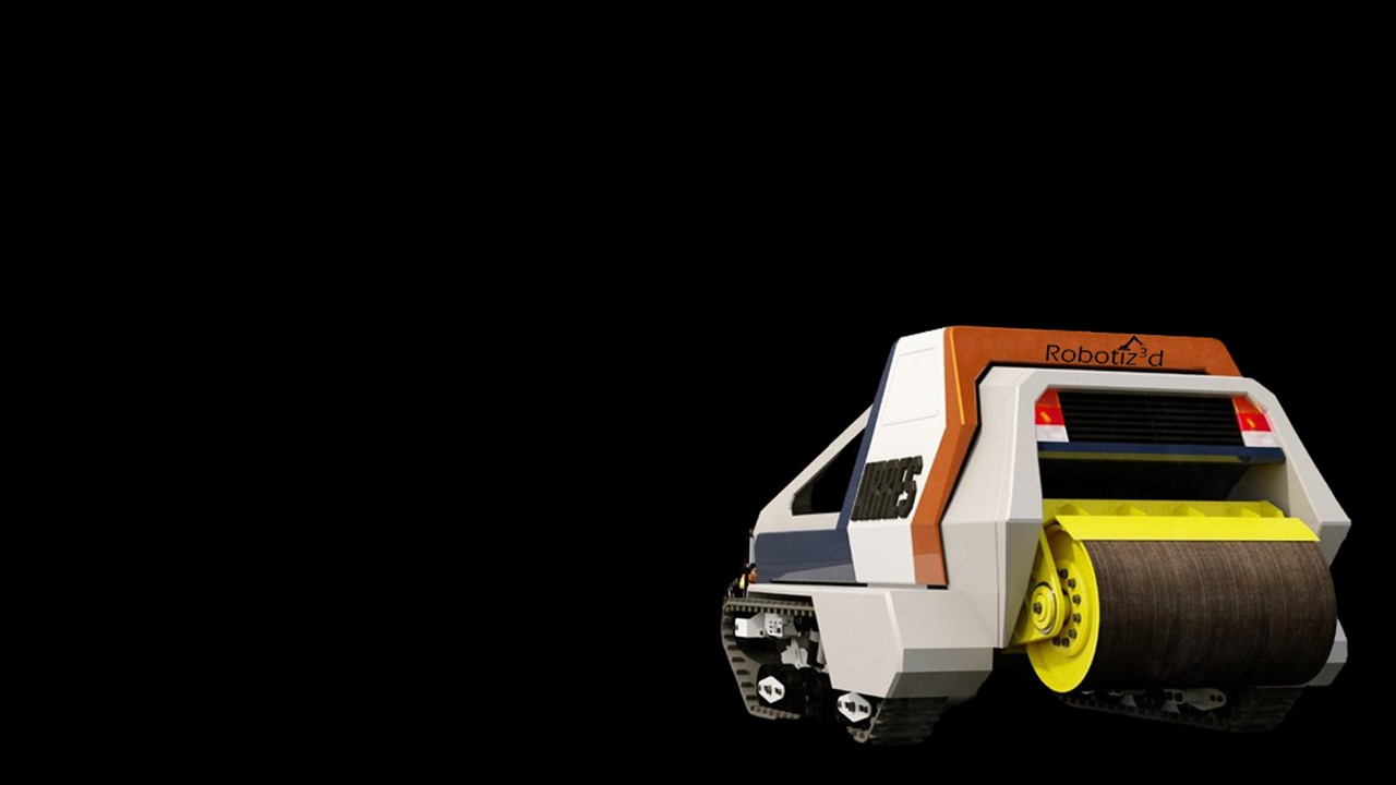 Artist's impression of Robotiz3d's ARRES model (Autonomous Road Repair System). Courtesy of Robotiz3d Ltd.