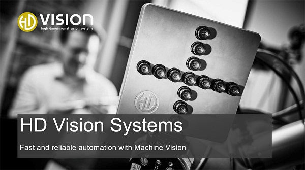 The opening slide of HD Vision Systems' presentation at the VISION Start-Up Pitch Session, held Oct. 11, 2020. Courtesy of VISION Stuttgart.