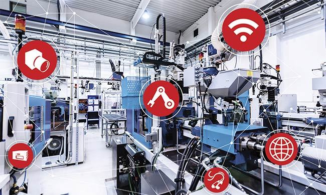 Vision provides data across multiple production lines and devices in smart factories. Courtesy of Stemmer Imaging