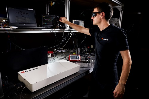 A Chromacity R&D engineer works with an ultrafast laser system. Courtesy of Chromacity.