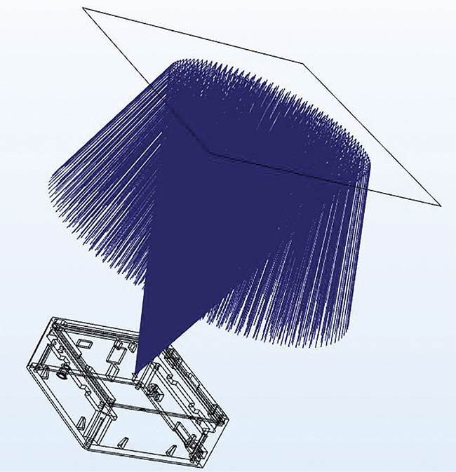 Figure 1. An illustration of the TOF process, generated using COMSOL modeling software. Courtesy of SABIC.