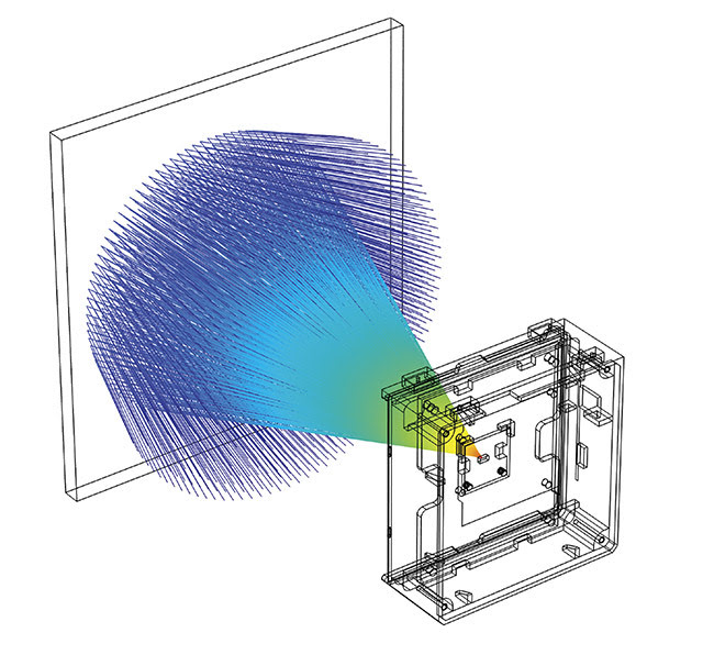 A TOF illustration generated using COMSOL modeling software. Courtesy of SABIC.