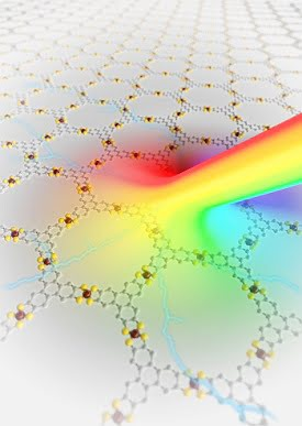 Physicists of HZDR and TU Dresden have developed a photodetector, which is completely based on layers of metal-organic frameworks. Since this compound can detect and transform a broad range of light wavelengths into electrical signals, it could become a novel detector material. Courtesy of HZDR / Juniks.