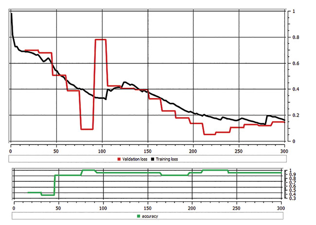Figure 5. A chart showing loss of function and accuracy. Courtesy of Teledyne DALSA.