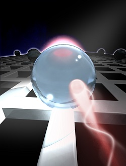 Whispering: Optical energy builds up in spheres through the l'whispering gallery effect.' Courtesy of Alon Oz/University of Göttingen.