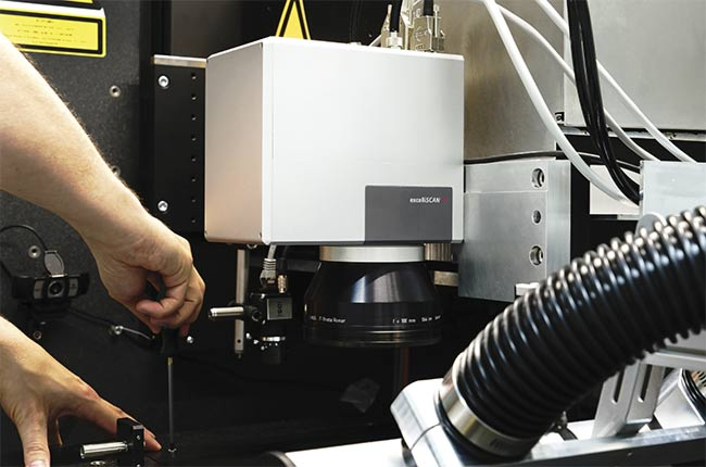 Figure 1. A scan head integrated in a laser processing machine for micromachining tasks. Courtesy of SCANLAB.