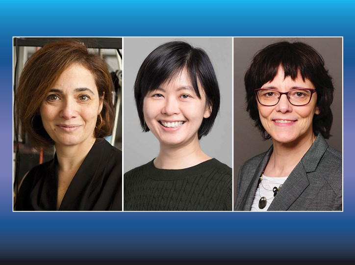 Michal Lipson (left) will serve as OSA president in 2023; Joyce Poon (center) and Ulrike Woggon have been elected to serve as directors-at-large for the society. Courtesy of OSA.