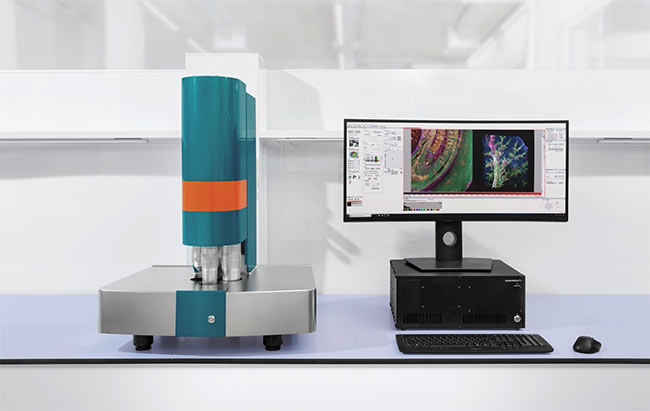 The UltraMicoscope Blaze is a light sheet microscope for imaging large-volume samples with cellular resolution. Courtesy of LaVision BioTec, a Miltenyi Biotec Company.