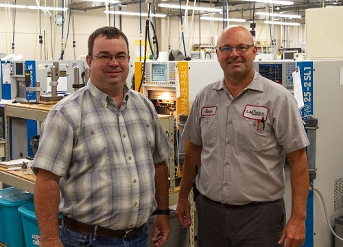 Robert Brockway, left, and Kevin Weaver. Courtesy of LaCroix Precision Optics.