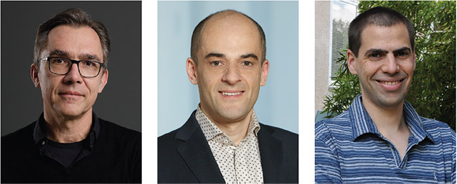 (From left) Jürgen Popp, Daniel Razansky, and Dan Oron will keynote the inaugural BioPhotonics Conference. The virtual event will run Oct. 26-28 and is free to attend.