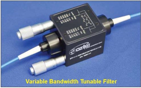 Manually Adjustable Variable Bandwidth Tunable Filters