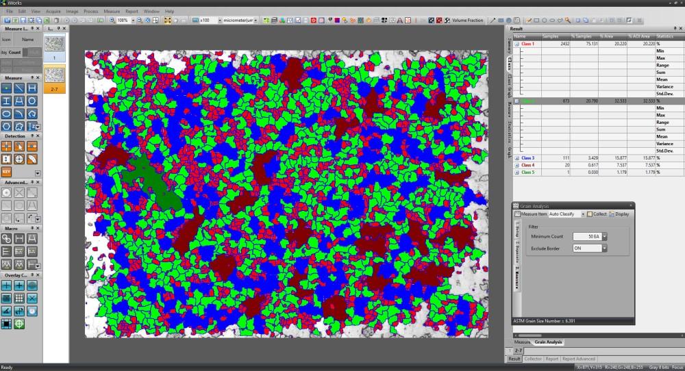 iWorks - Metallographic Image Analysis Software
