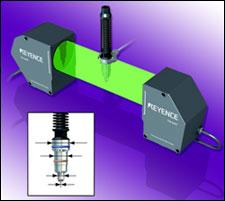 Tm 3000 2 D Optical Micrometer Keyence Corp Of America