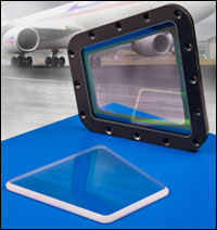 Sapphire Windows for Aircraft