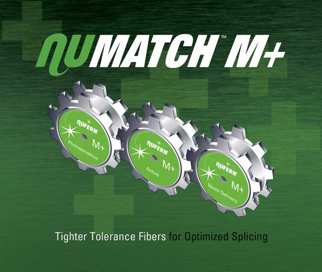 NuMATCH M+ Tighter-Tolerance Fibers