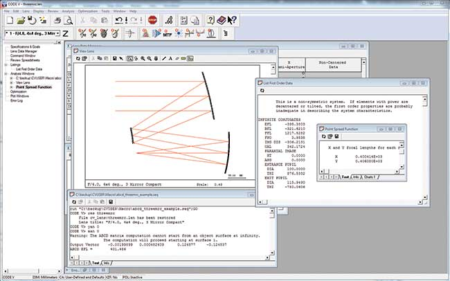 CODE V Optical Design Software