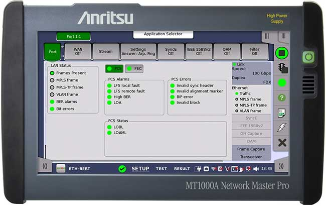 Multirate Module KANAGAWA Japan May 31 2017 The 100G From Anritsu Corp Is Designed For Its Network Master Pro MT1000A All In One