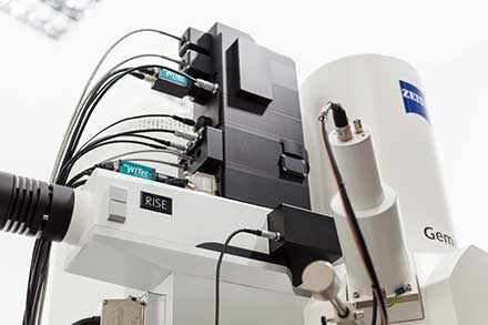 Raman Imaging and Scanning Electron Microscopy Solution