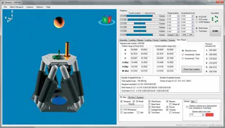 HexaViz V1.1 Hexapod Simulator