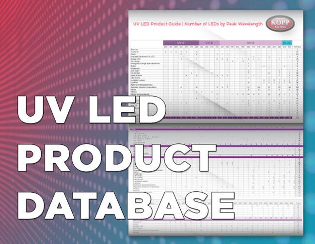 UV LED Product Database