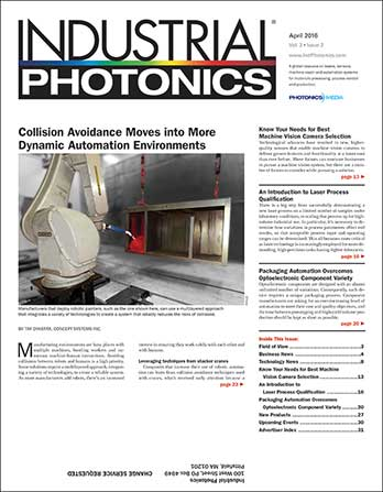 Industrial Photonics: April 2016