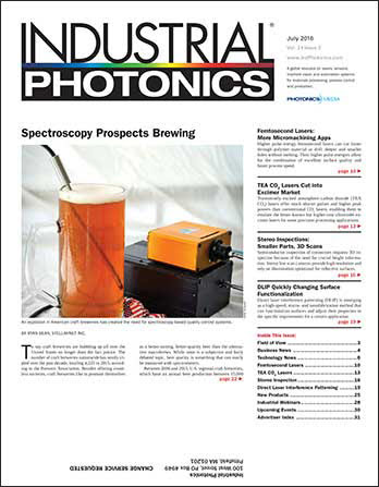 Industrial Photonics: July 2016