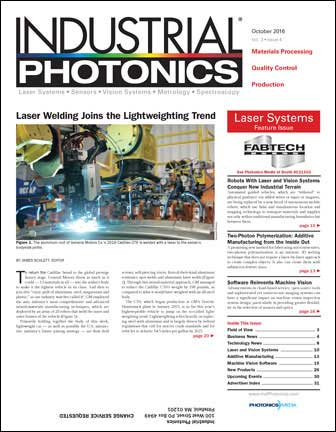 Industrial Photonics: October 2016