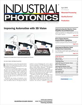 Industrial Photonics: April 2018