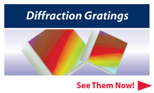 diffraction gratings from Optometrics Corp
