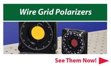 wire grid polarizers from Optometrics Corp