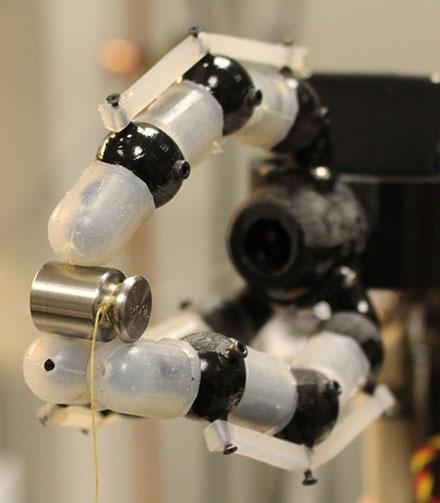 Fiber Sensors Improve Robot Touch Sensitivity