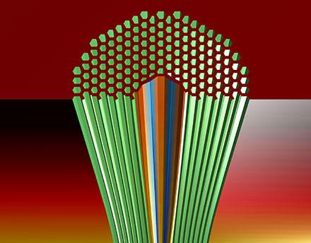 Photonic Bandgap Fiber Reaches Telecom Scale